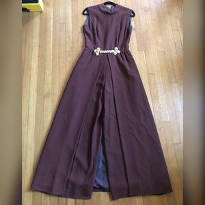 60s Vintage Palazzo Jumpsuit with Skirt overlay